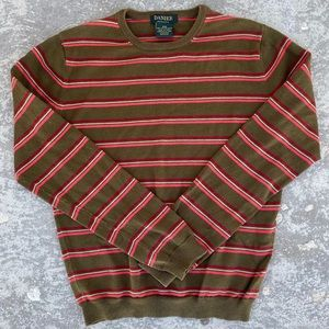 Danier Striped Crew Neck Sweater